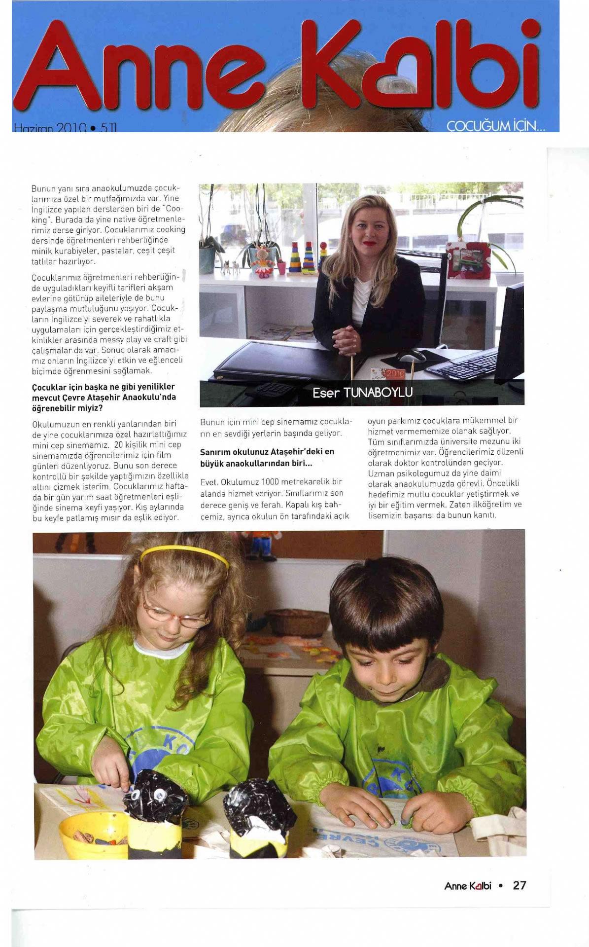 Çevre Koleji Ataşehir Anaokulu'nda Bir İlk!2