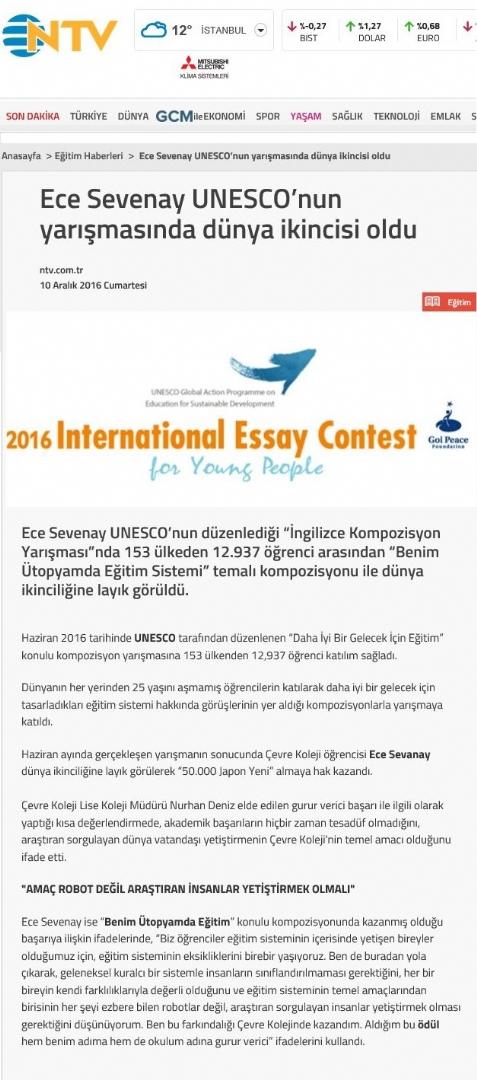 UNESCO BAŞARISI - NTV
