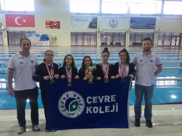 2 Awards for The Çevre School Sports Junior Swimming Team Competition