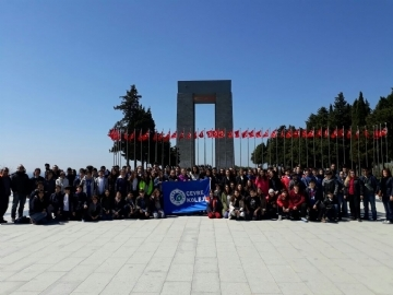 102 Çevre 7 Graders and Their Teachers in Çanakkale for 102nd Anniversary