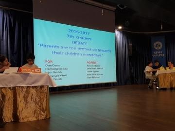 7. Sınıflar İngilizce Münazara Etkinliği!
