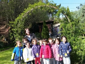 Çevre Preschool Students at Butterfly Farm
