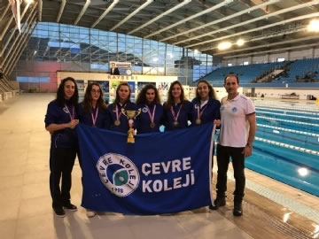 Çevre High School Young Female Swimming Team, Turkey Champion