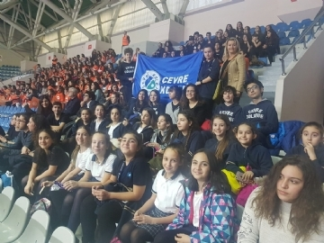 Çevre College at Volleyball Match