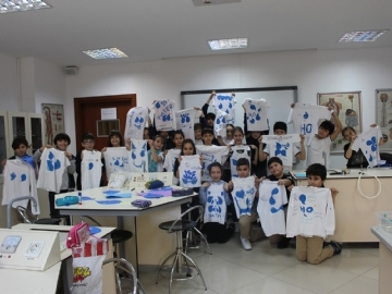 "Çevre Students' World Water Day message ""Save Water"""