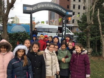 4th Graders were at the Natural Disaster and Awareness Park