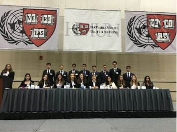 Cevre College in 2016 Harvard MUN Conference