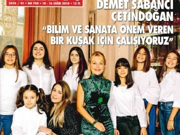 Çevre High School 11 Grader Sevgi Eda Keskin at Hello Magazine