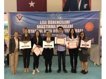 TÜBİTAK Liselerarası Araştırma Projeleri Yarışması Bölge Finallerine Çevre Koleji Damgasını Vurdu