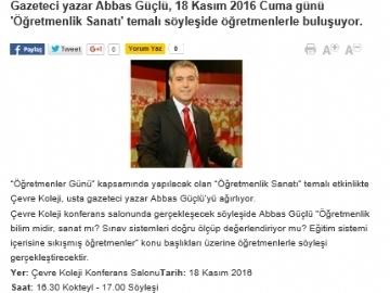 ABBAS GÜÇLÜ SÖYLEŞİSİNE DAVET - VATAN