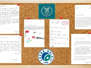 Democracy letters of the elementary and secondary students of Çevre
