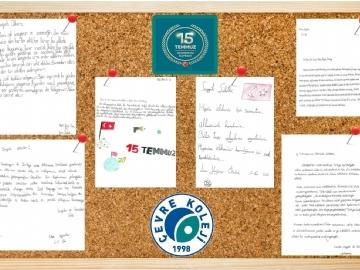 Çevre İlk ve Orta Okulu Öğrencilerinden Demokrasi Mektupları