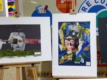 High School Collage Exhibition