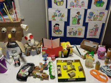 Toys Made Out of Waste Materials Project