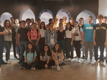 Çevre High School Students at the Incredible Machines Exhibition
